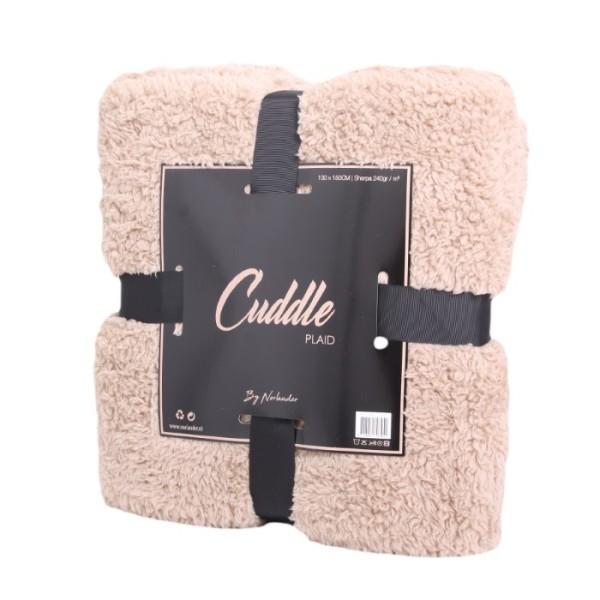 Norländer Cuddle Blanket Light Brown