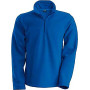 Enzo - fleece met ritskraag royal blue xxl