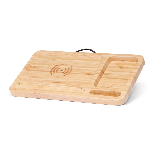 BRAINZ Wireless Charger Pad Bamboo