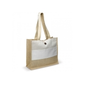 Bedrukte Shopper natural