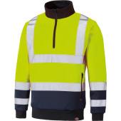 Sweater hi-vis truckerskraag
