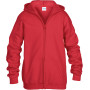 Heavy blend™classic fit youth full zip hooded sweatshirt red '5/6 (s)