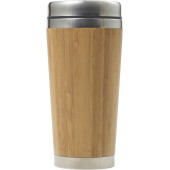 Bamboo and stainless steel travel cup