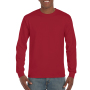 Gildan T-shirt Ultra Cotton LS Cardinal Red M