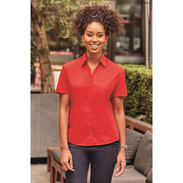 Ladies Shortsleeve Classic Polycotton Poplin Shirt