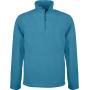 Enzo - fleece met ritskraag tropical blue l
