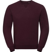 Authentic crew neck melange sweatshirt burgundy melange s