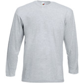Valueweight long sleeve t (61-038-0) heather grey m