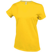Dames t-shirt ronde hals korte mouwen yellow 3xl