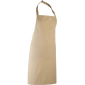 Colours bib apron khaki beige one size