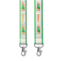 Polyester lanyard with satin overlay