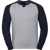 Authentic crew neck baseball sweatshirt light oxford / indigo melange 'xs