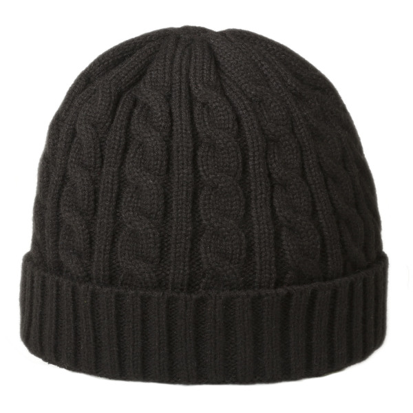 Luxury Cable Hat Zwart Zwart One size fits all
