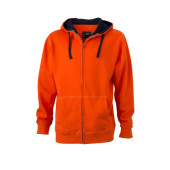 Men's Lifestyle Zip-Hoody - donkeroranje/navy