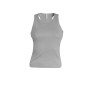 Angelina - dames racerback light grey l