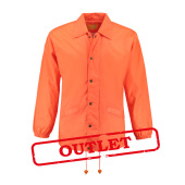 L&S Coach Jacket Nylon Bright Orange-35% korting XL
