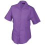 Ladies' Promotion Blouse Short-Sleeved paars