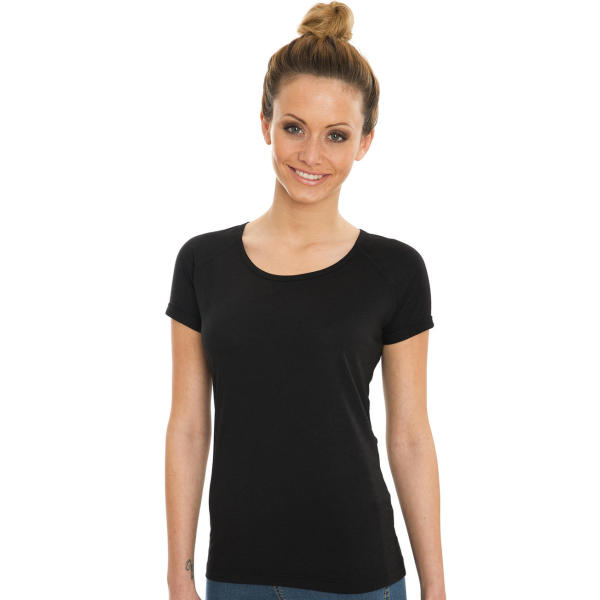 Emily Viscose-Cotton Rolled Up Raglan T-Shirt