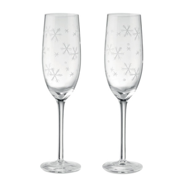 CHEERS - Set of 2 champagne glasses