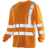 Jobman 5593 Hi-vis long sleeve t-shirt oranje 3xl