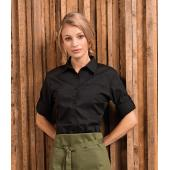 Ladies Roll Sleeve Poplin Blouse