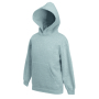 Kids Classic Hooded Sweat, Heather Grey, 7-8jr, FOL