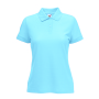 65/35  Lady-Fit Polo, Sky Blue, XS, FOL