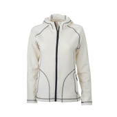 Ladies' Stretchfleece Jacket - gebroken wit/carbon