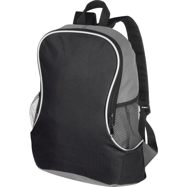 Backpack with side compartments