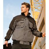 Zip Sleeve Heavy Duty Jacket, Grey/Black, 3XL, Result Work-Guard