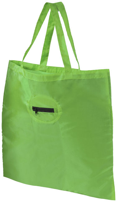 Takeaway opvouwbare polyester draagtas - Lime
