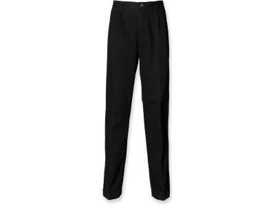 Men's pleat front chino trousers