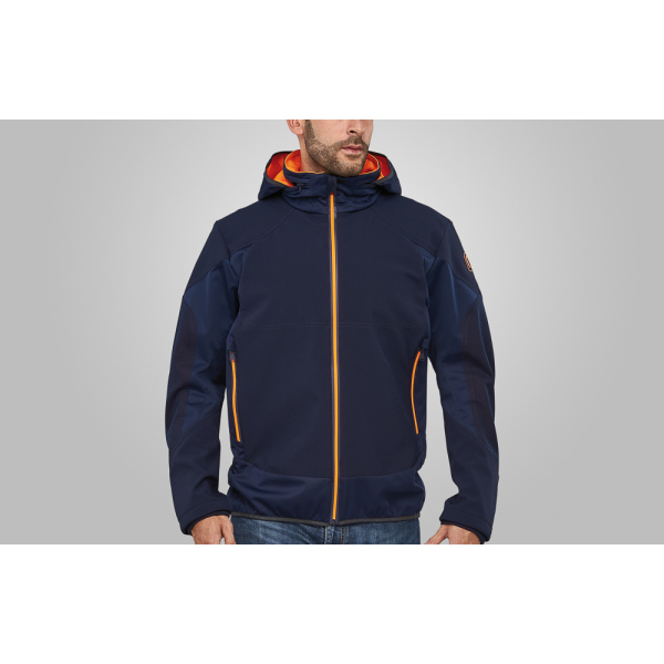Macseis Jacket Softshell Venture for him Blue/OR