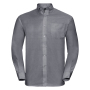 Men L/S Easy Care Oxford Shirt, Silver, 6XL, RUS