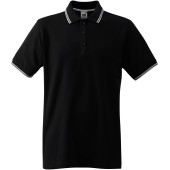 Premium tipped polo shirt (63-032-0) black / white xl