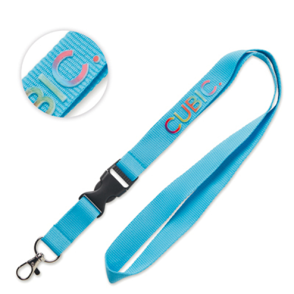 3D printed polyester lanyard with buckle
