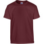 Heavy cotton™classic fit youth t-shirt maroon (x72) '5/6 (s)