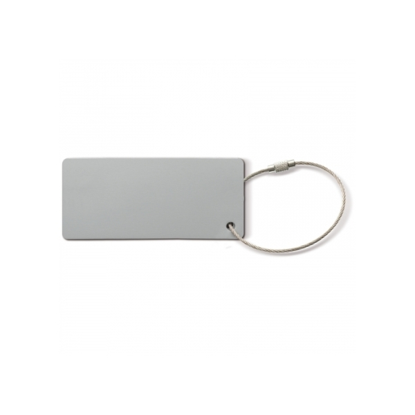 Aluminum luggage tag rectangle