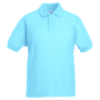 Kids 65/35 Polo, Sky Blue, 14-15jr, FOL