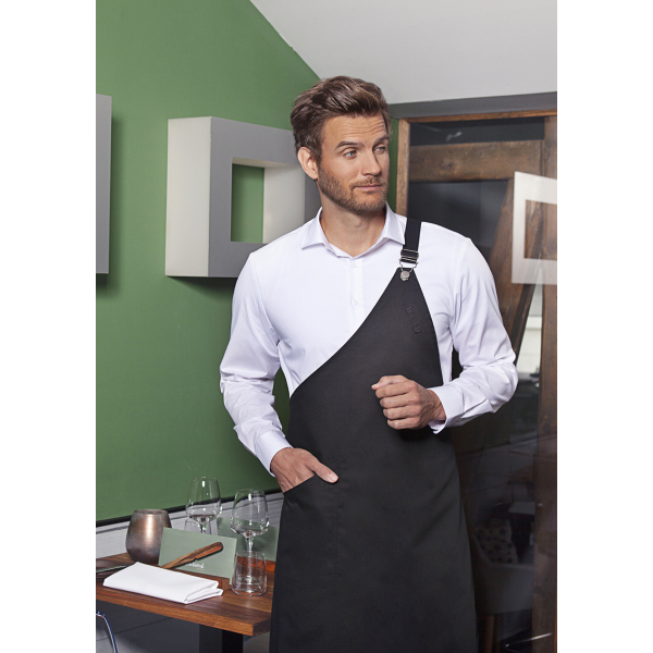 Asymmetrical Bib Apron Classic with Pocket 70 x 90 cm