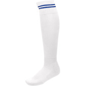 Sportsokken met contraststrepen white / dark royal blue 47/50