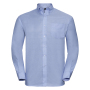 Men L/S Easy Care Oxford Shirt, Oxford Blue, 6XL, RUS
