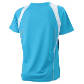 Ladies' Running-T - turquoise/wit