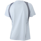 Ladies' Running-T - wit/zilver