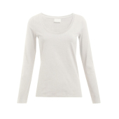 Dames Slim Fit-T met Lange mouwen