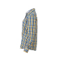 Ladies' Checked Blouse wit/blauw-geel-wit