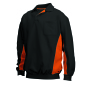 Polosweater Bicolor Borstzak 302001 Black-Orange L