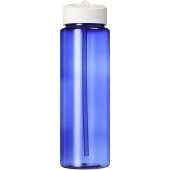 H2O Vibe 850 ml sportfles met tuitdeksel - blauw,Wit