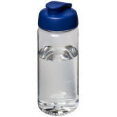 H2O Octave Tritan™ 600 ml sportfles met flipcapdeksel - Transparant,blauw