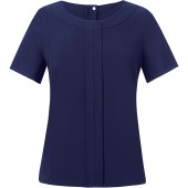 Blouse in chinese crêpe verona navy 46 eu (18 uk)